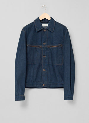 Denim trucker jacket jean blue