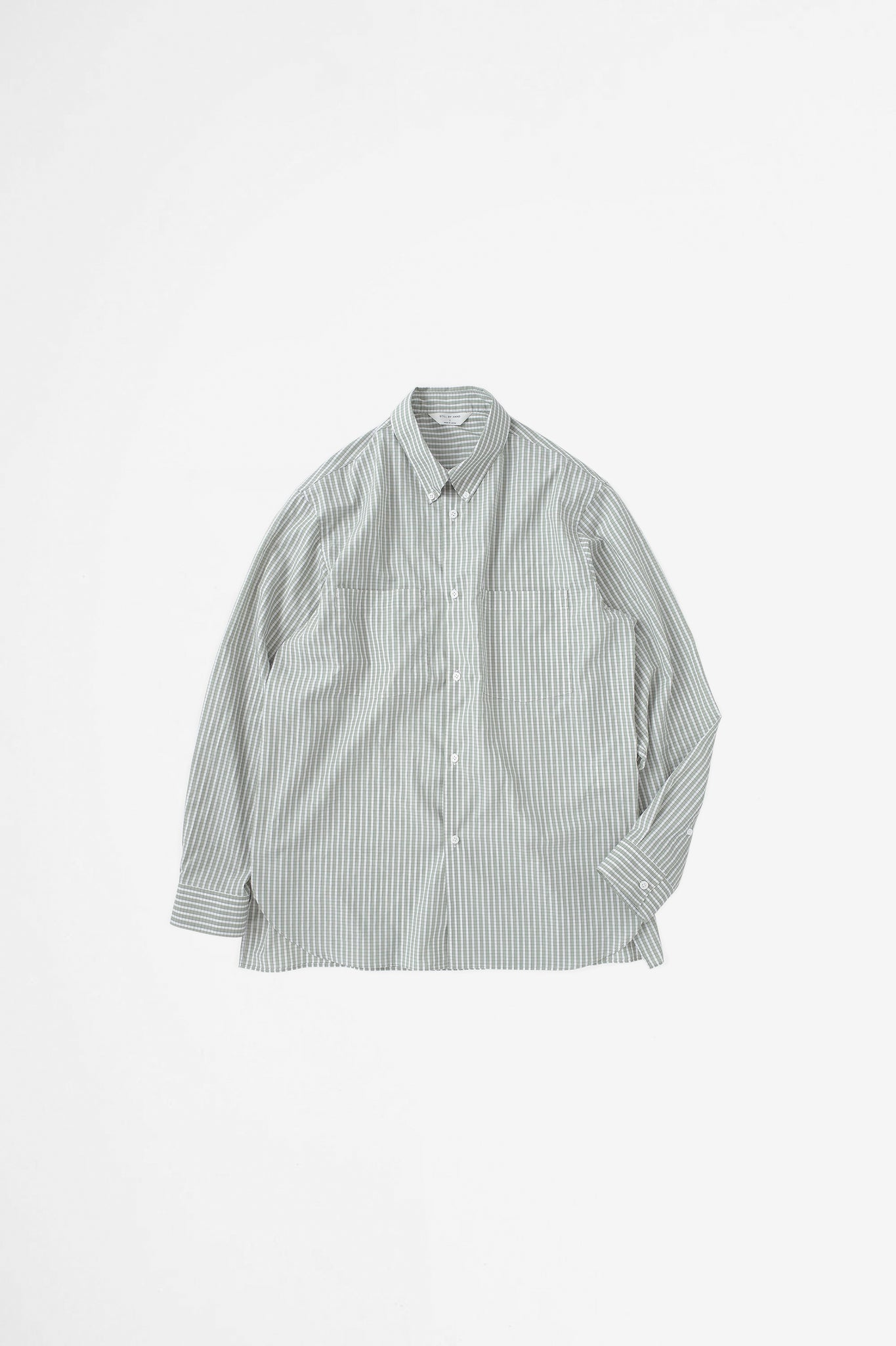 Double pocket BD shirt sage green