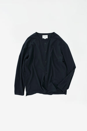 Dry touch cardigan cotton navy