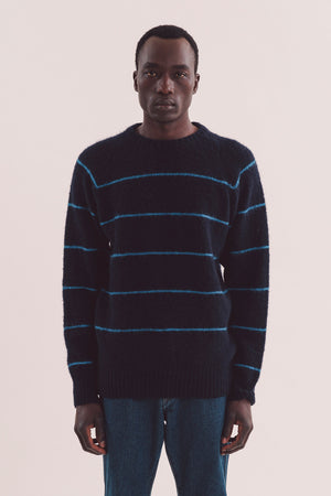 Everyman stripe crew navy/blue