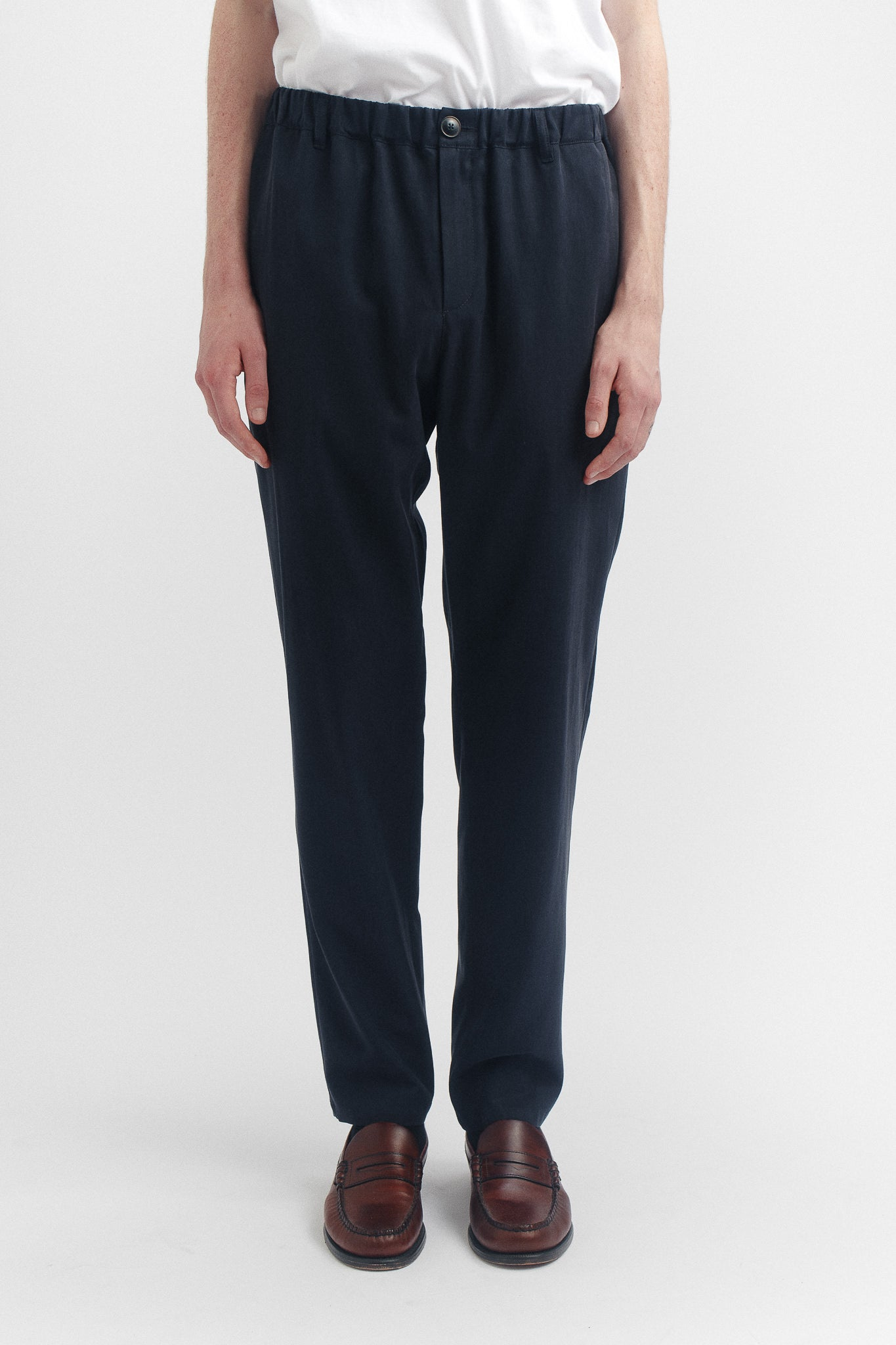 Elasticated wide trousers deep navy