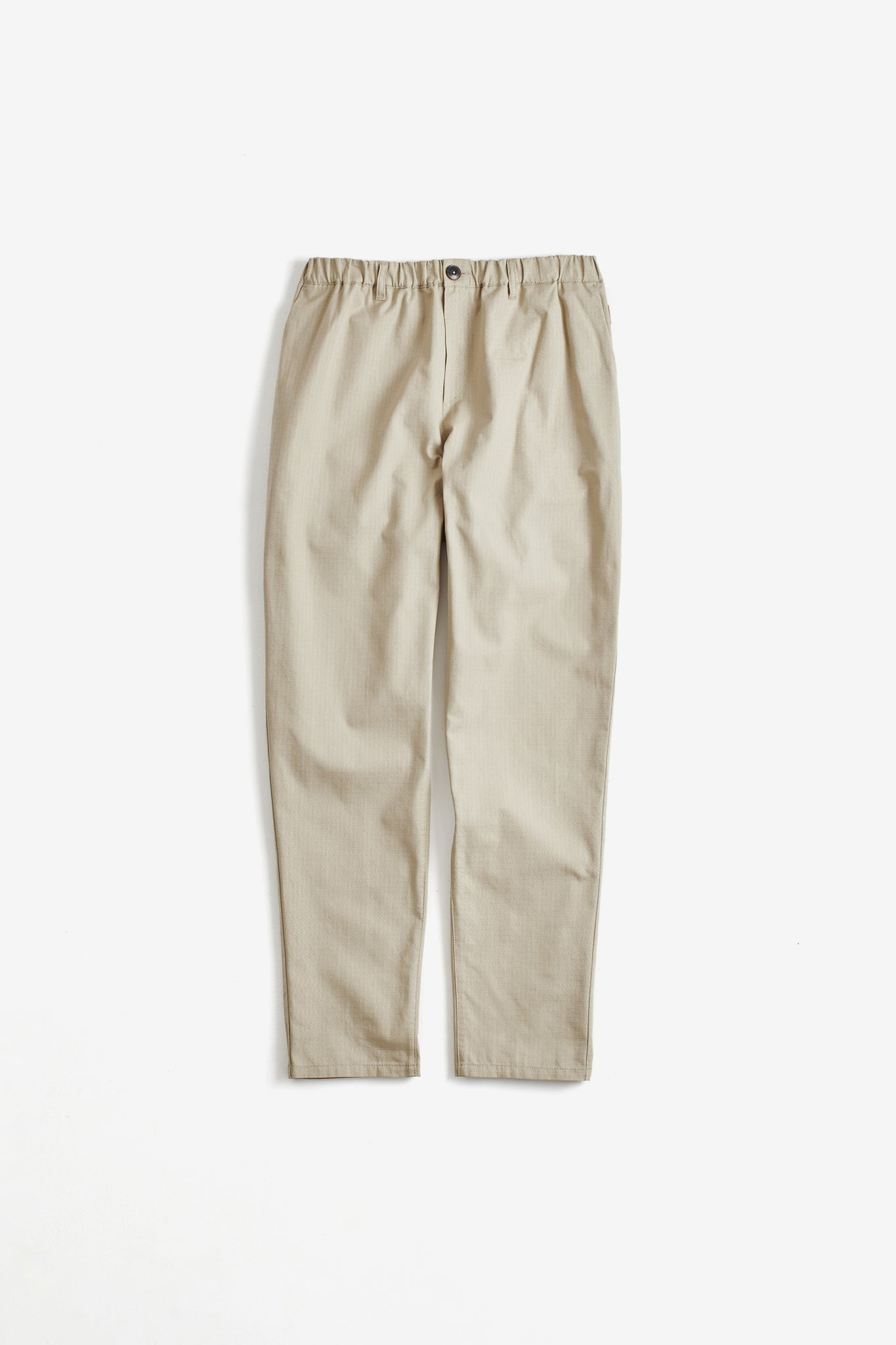 Elasticated wide trousers structured stone