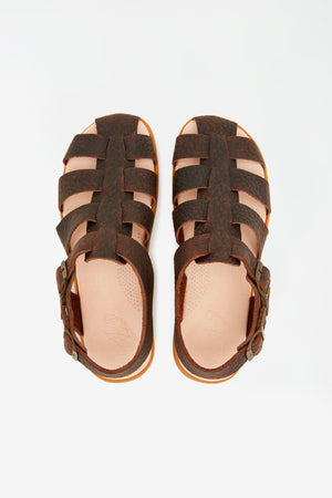 Elba sandal dark brown