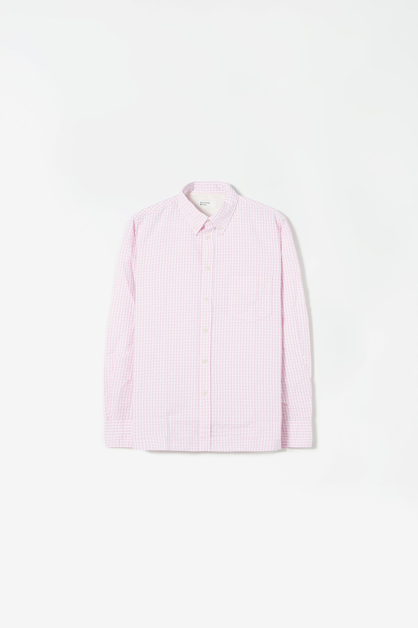 Everyday shirt gingham seersucker pink