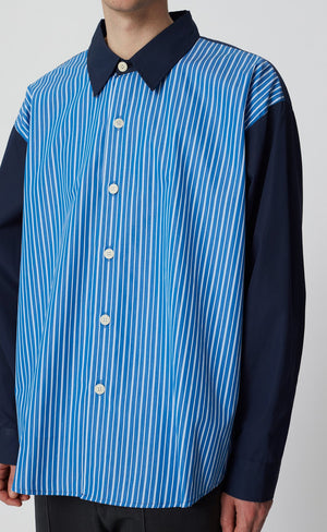 Exact shirt dark navy stripe