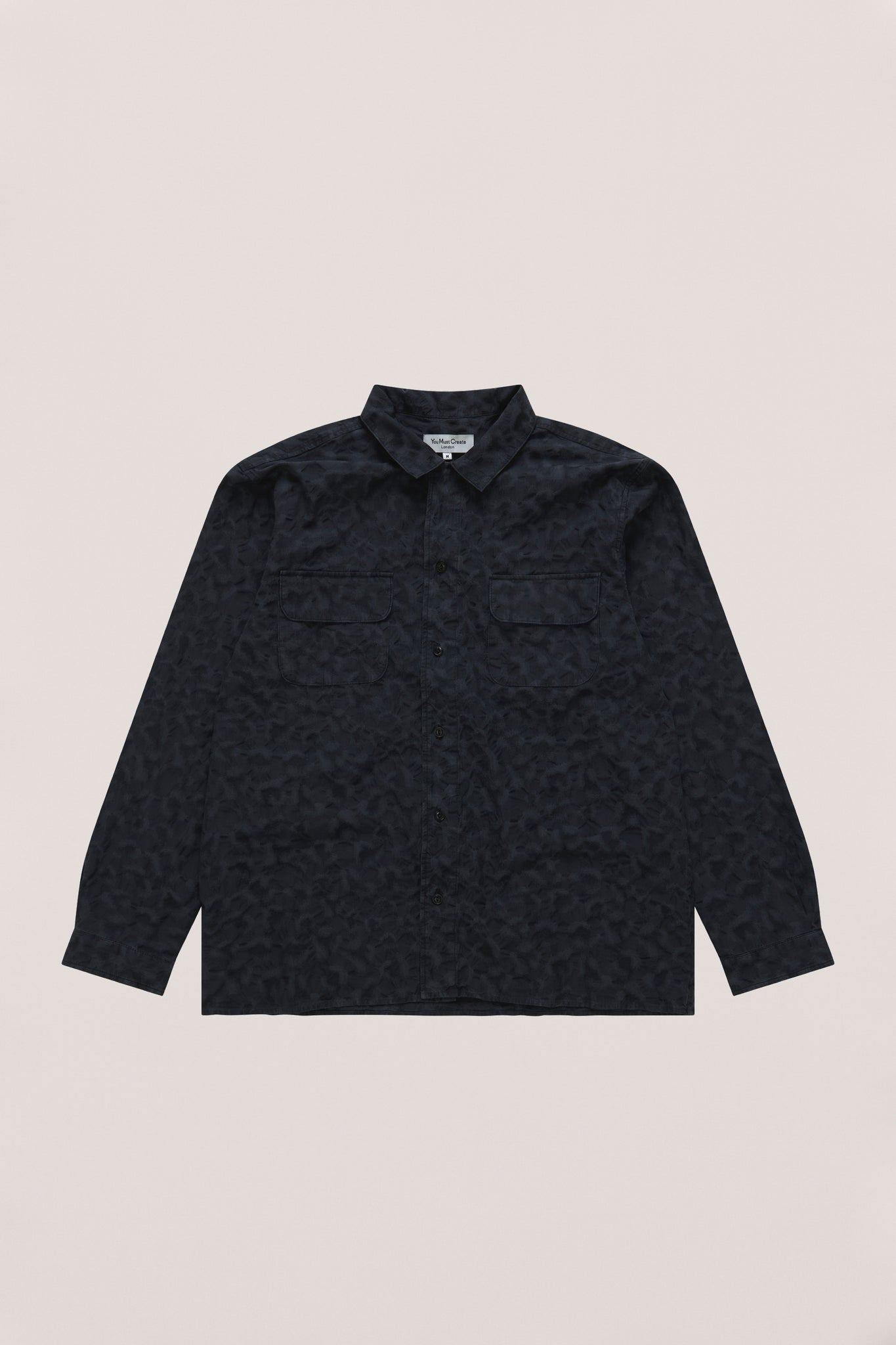 Feathers shirt leopard jacquard black
