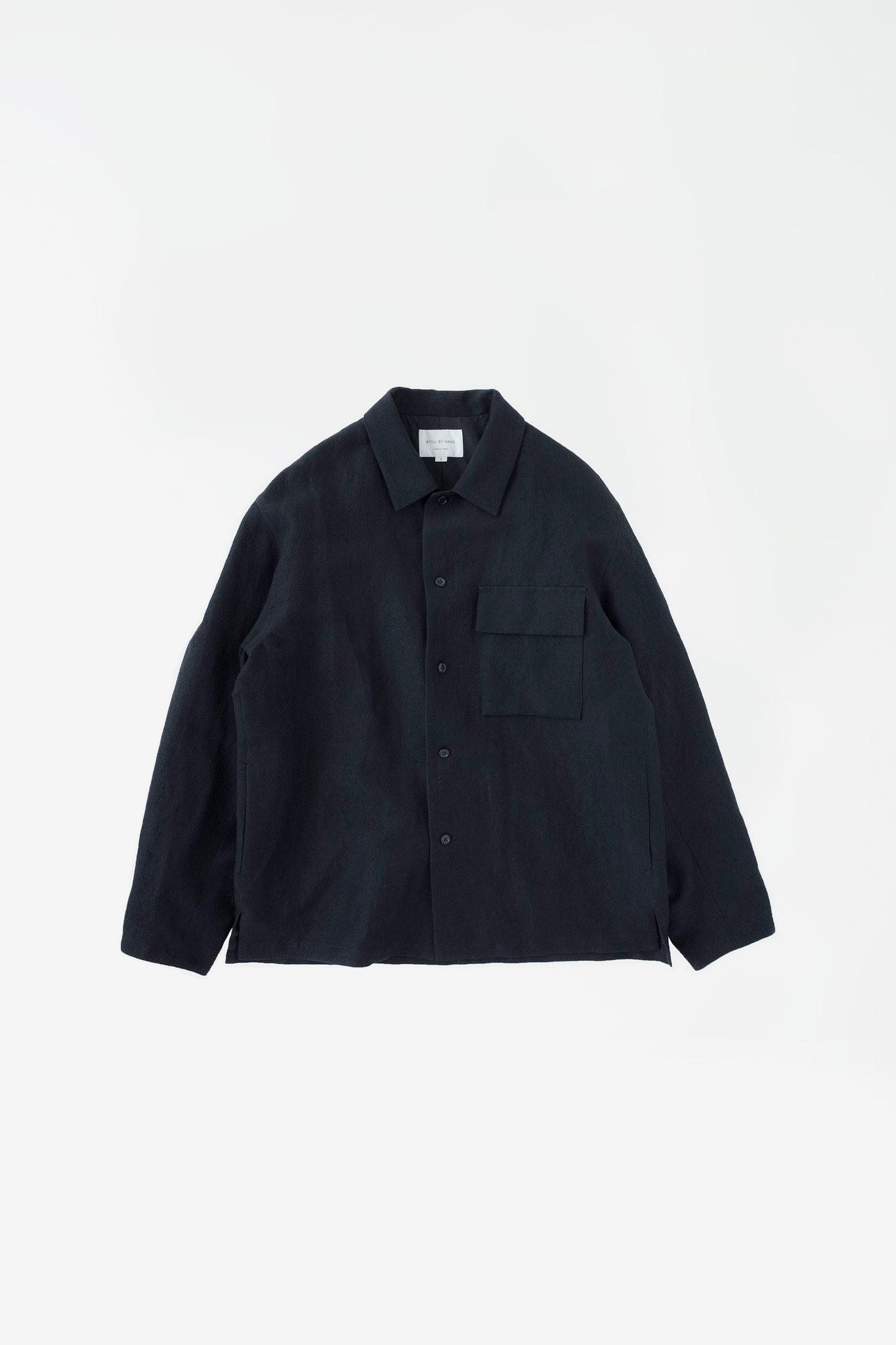 Flap pocket relaxed blouson black