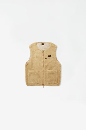 Fleece liner vest khaki