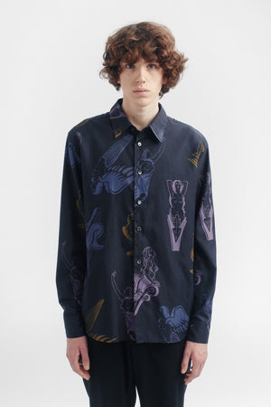 Flores shirt navy gallion