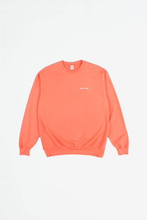 Fun Logo French Terry sweatshirt salmon