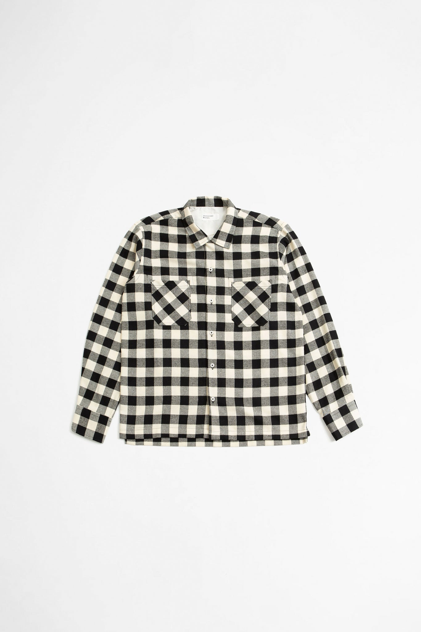 Garage shirt II recycled check ecru
