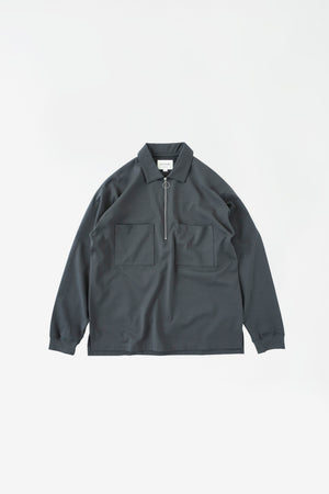 Half zip polo shirt slate grey