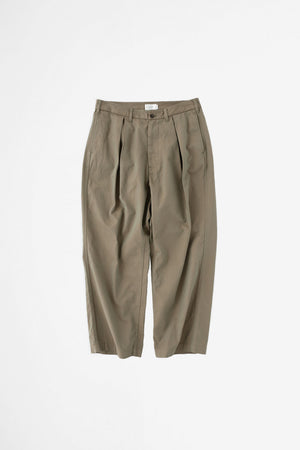 Inverted box pleat pants olive
