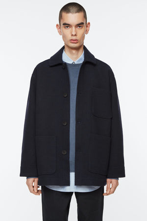 Jacket bonded twill navy