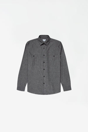 Japanese selvedge chambray overshirt black