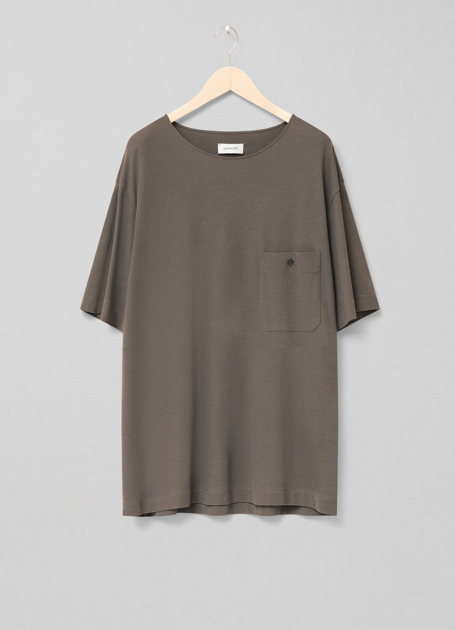 Jersey crepe chinese t-shirt granite grey
