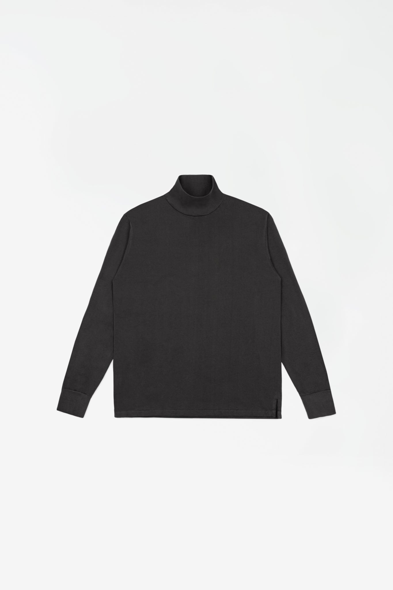Jersey turtleneck tire black