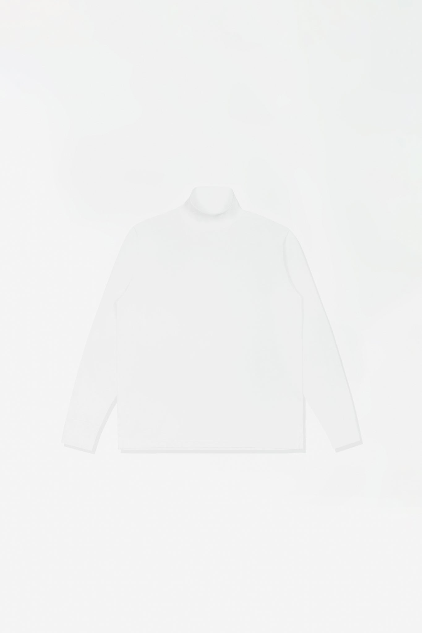 Jersey turtleneck white