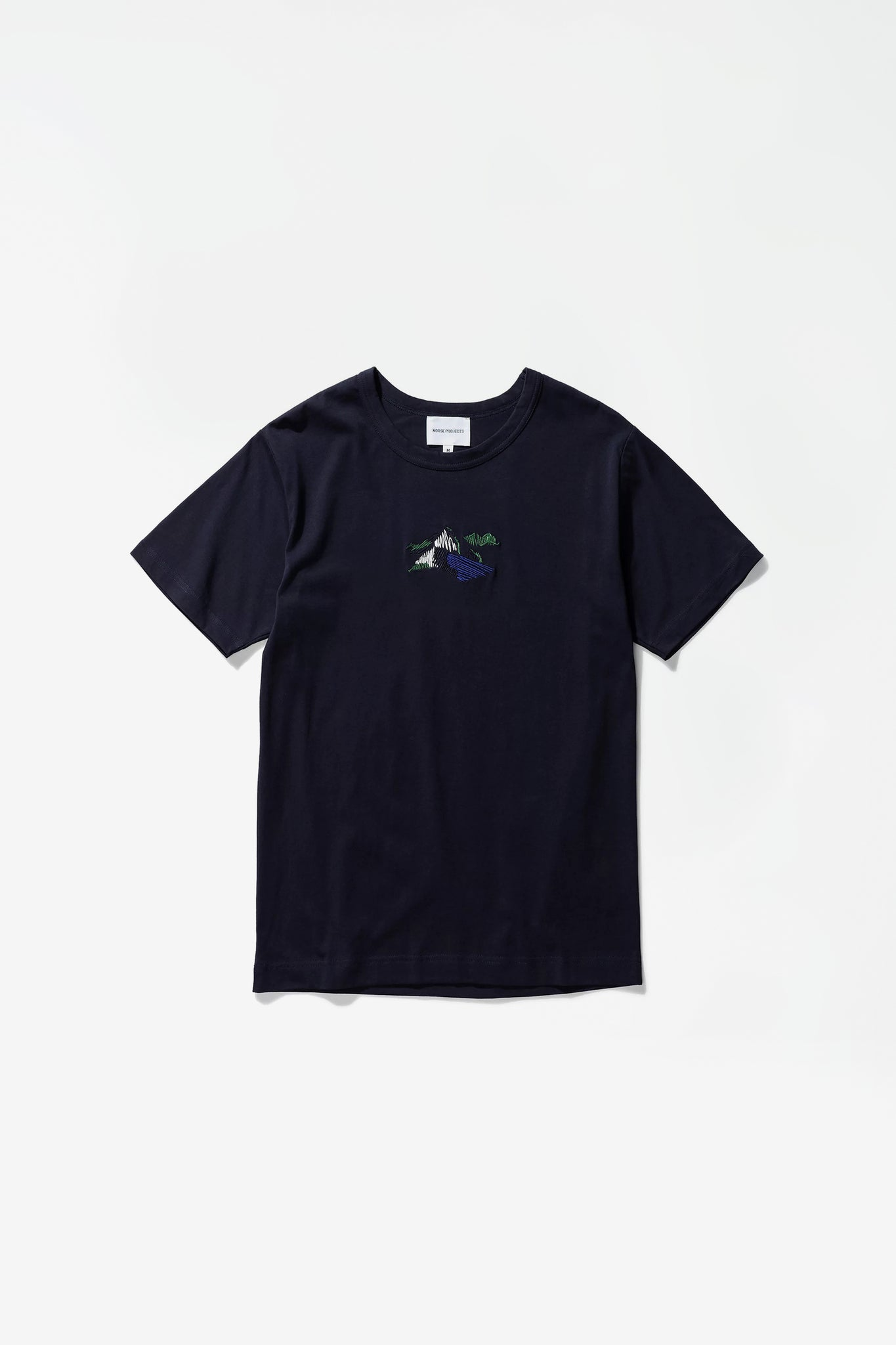 Joakim Embroidery Landscape dark navy