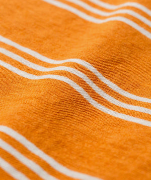 Johannes Cotton Linen stripe cadmiun orange