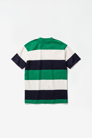 Johannes border stripe sporting green