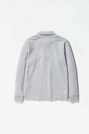 Jorn half zip light grey
