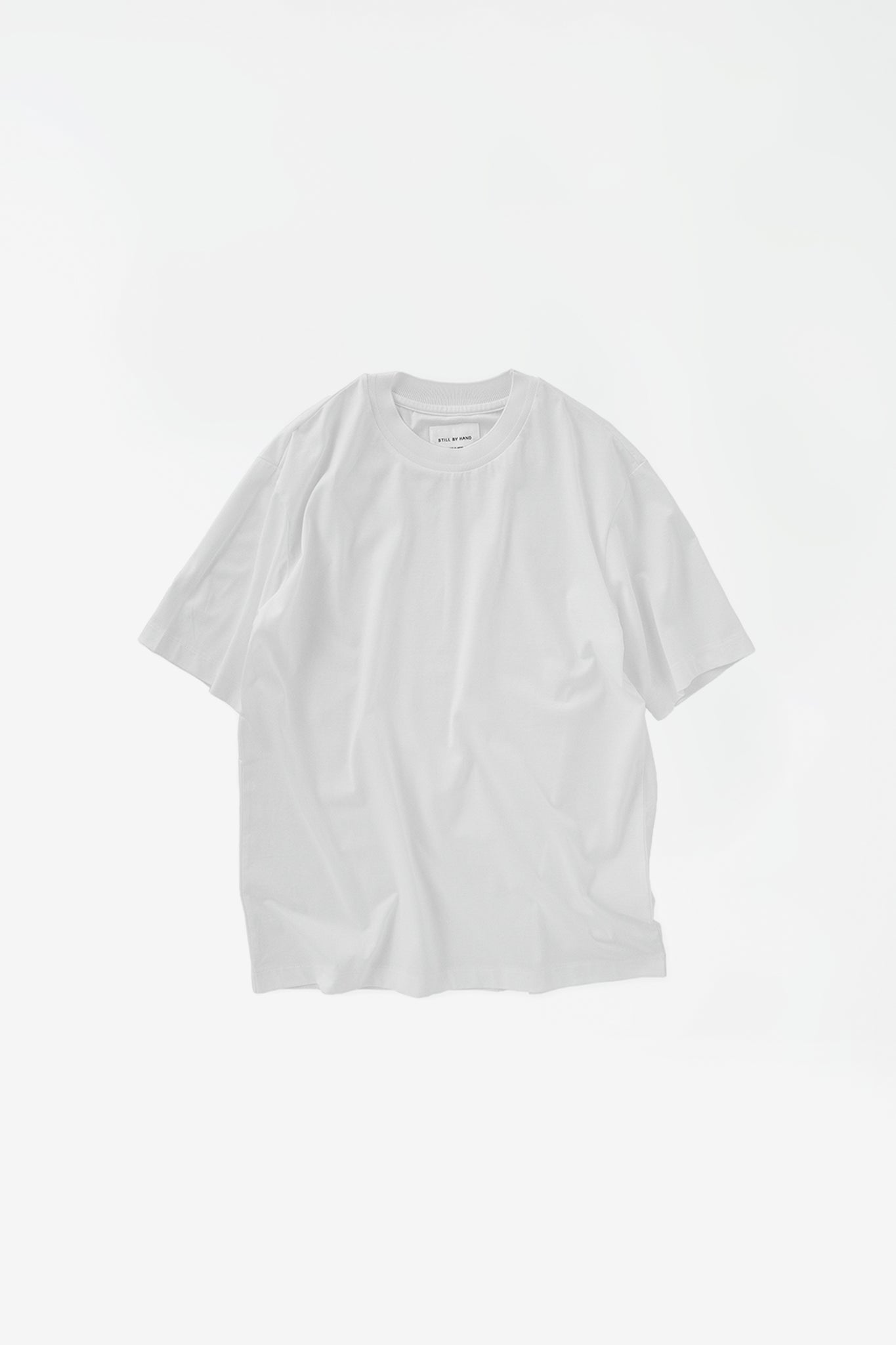 Knitted rib tshirt white