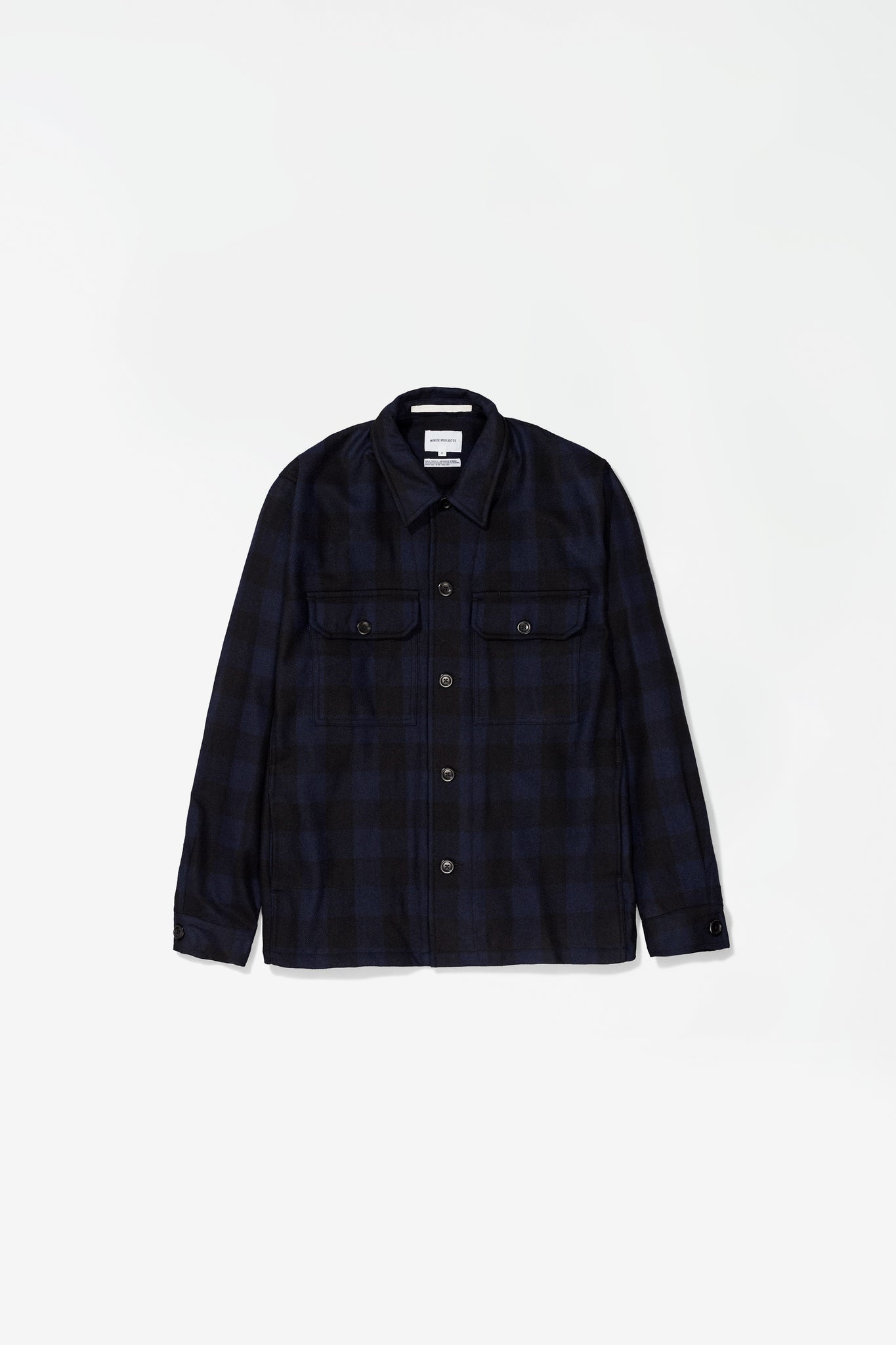 Kyle wool overshirt dark navy