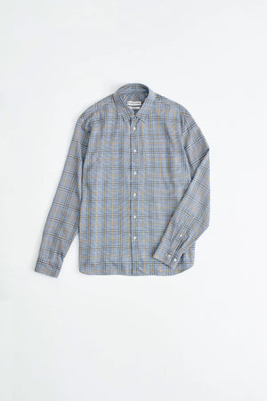 Leonard shirt blue check