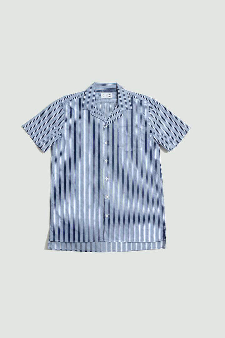Cave S/S shirt royal stripe