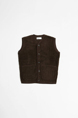 Lancaster gilet mountain fleece chocolate