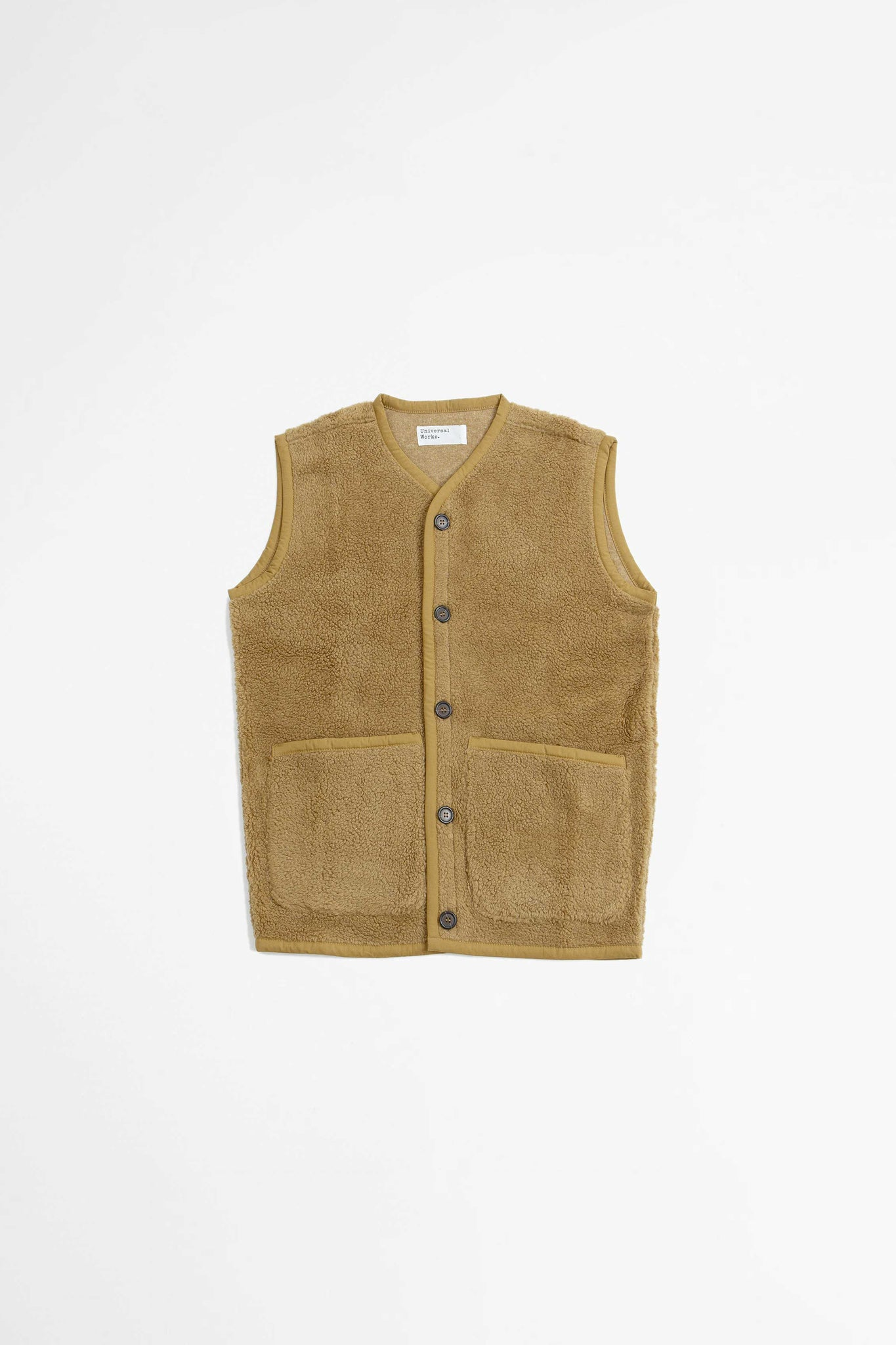 Lancaster gilet mountain fleece sand