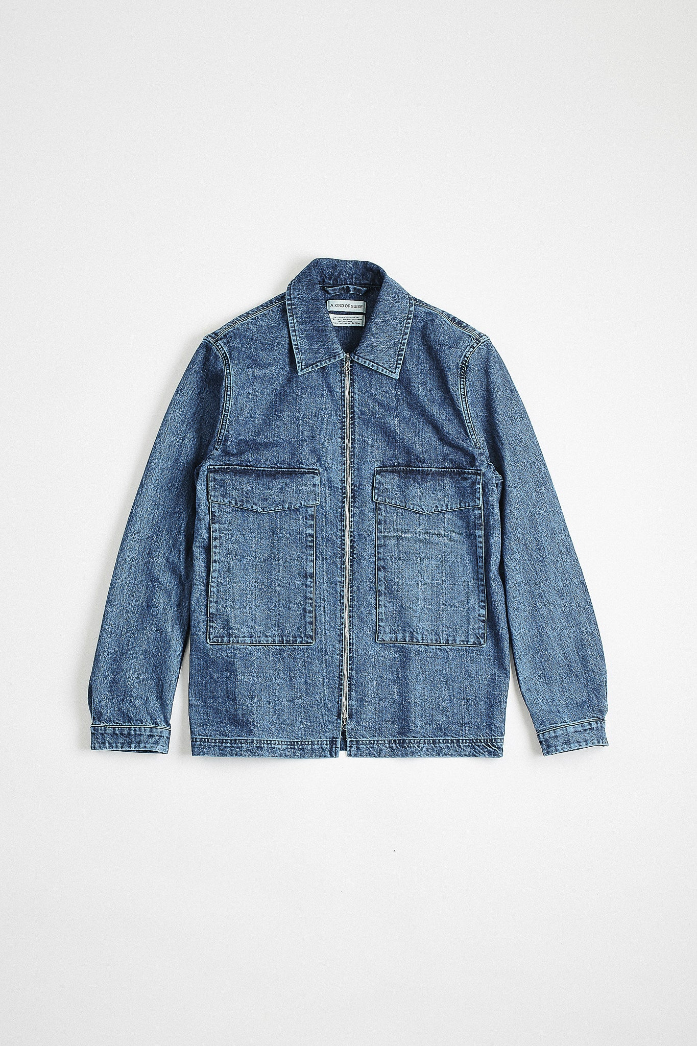 Lir overshirt bleached denim