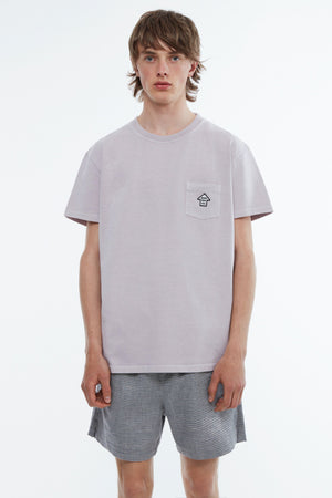 T- Shirt jersey garment dyed dusty purple