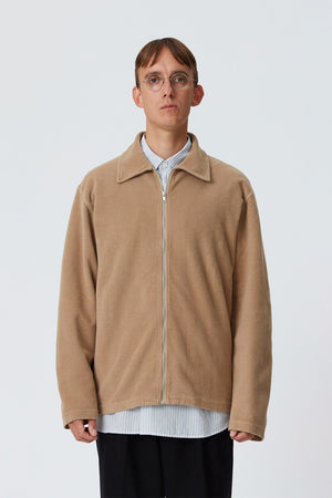 Lucen zip shirt tan