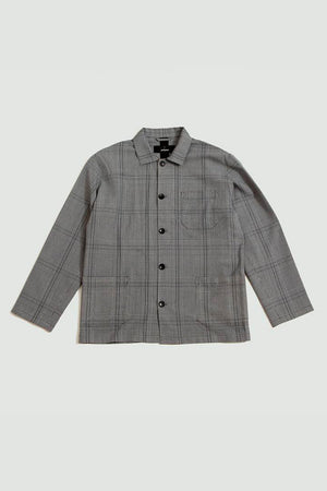 Studio coat black check