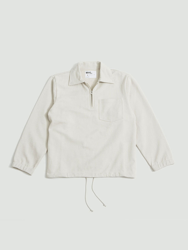 Margaret Howell. Track top dry loopback jersey chalk