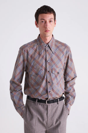Western shirt grey check