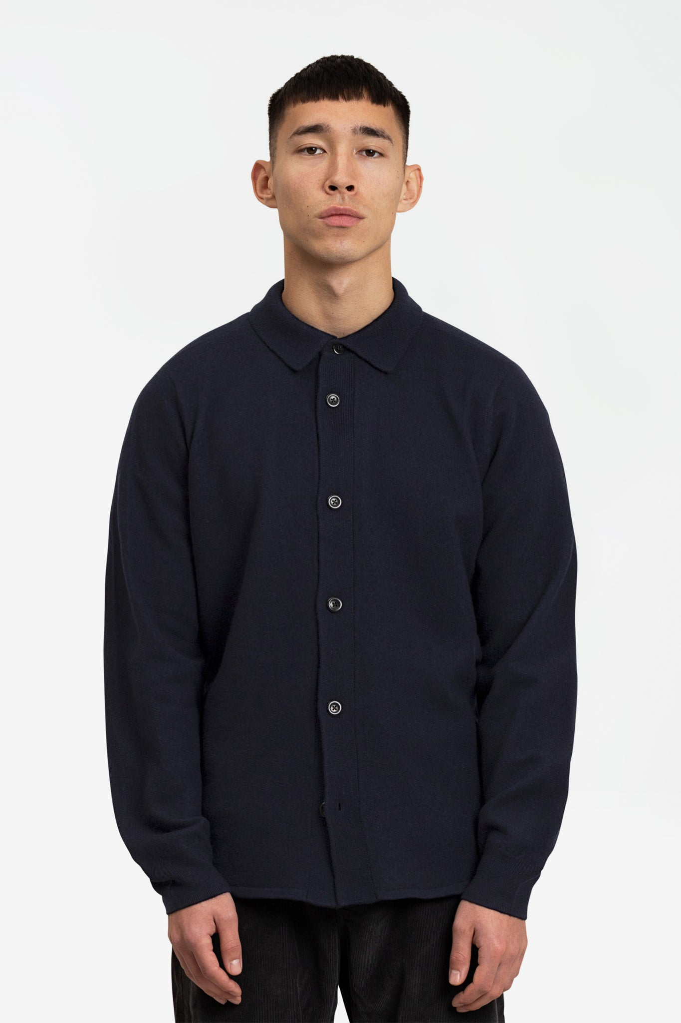Martin boiled wool navy