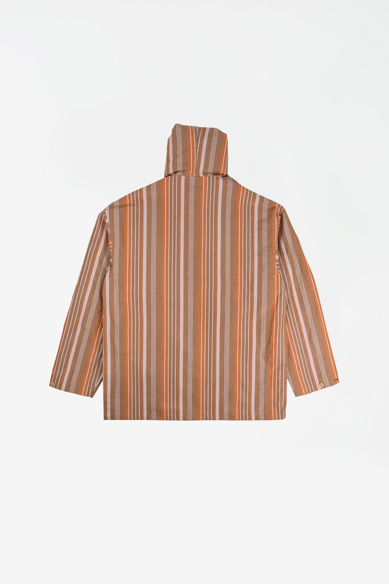Mexican shirt parka beige stripes