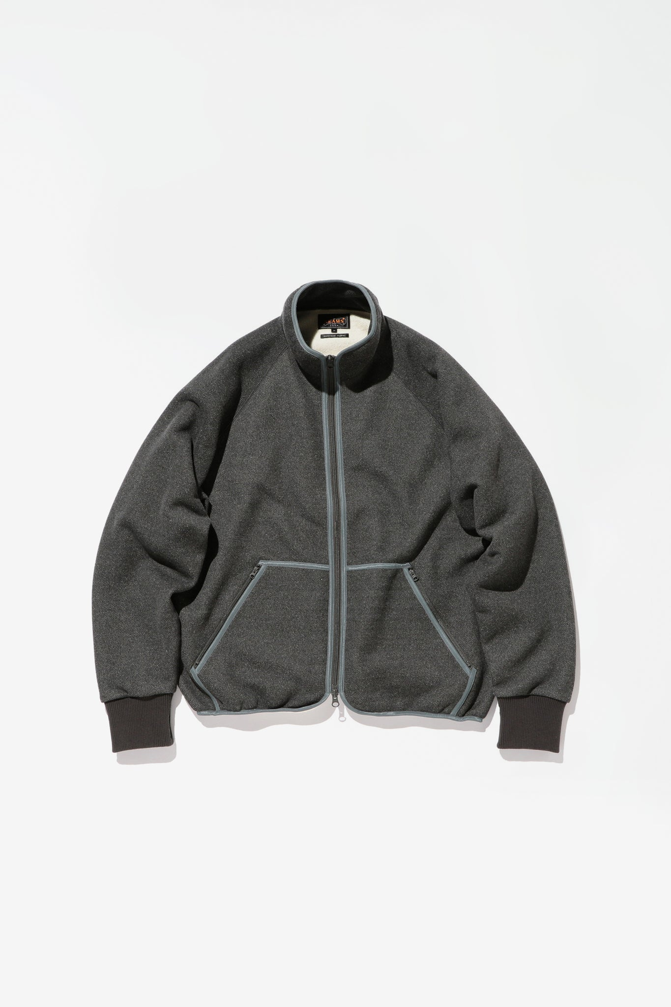 Military liner jersey jacket charcoal
