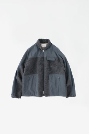 Modular fleece jacket slate grey