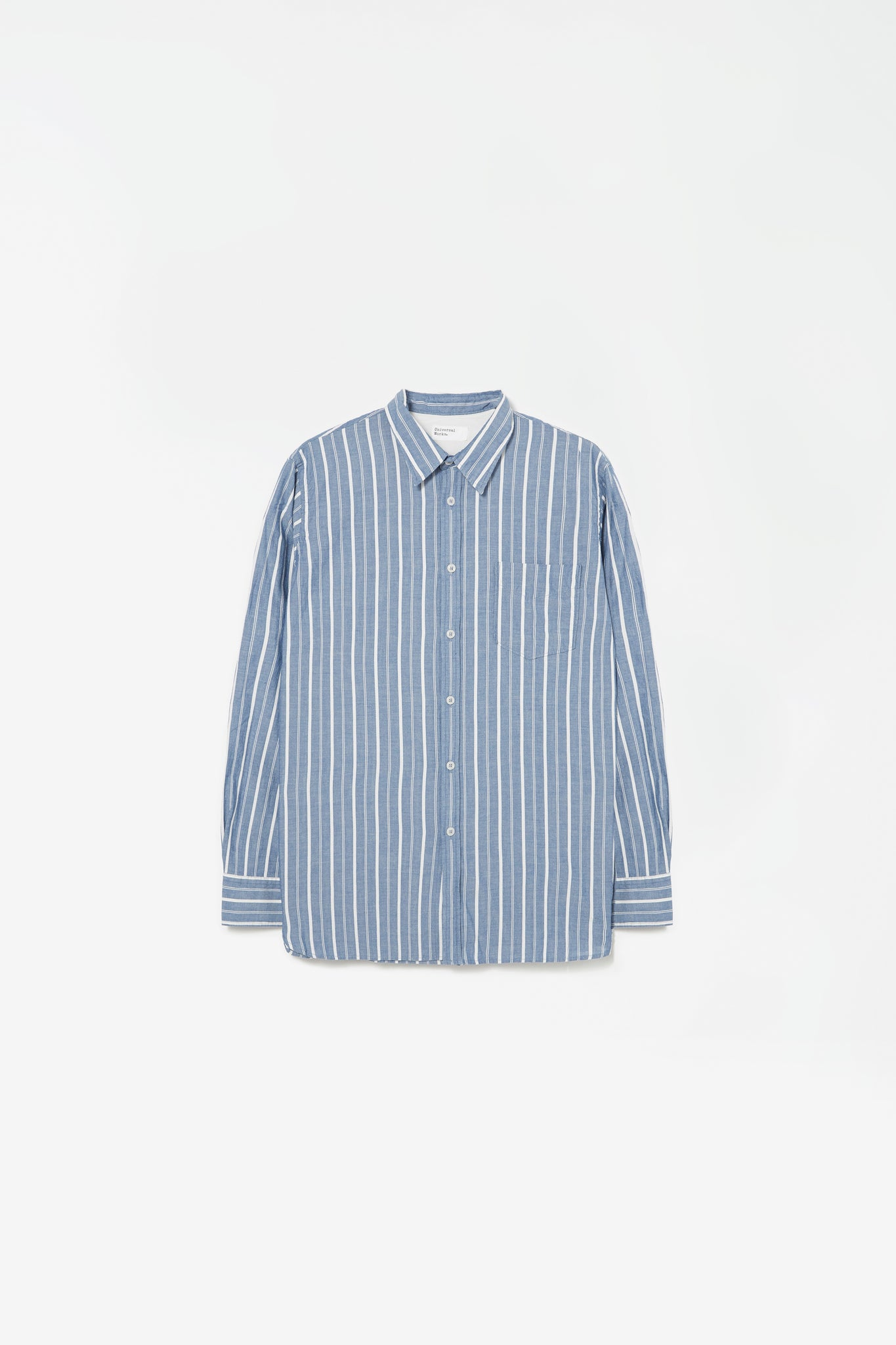 New standard shirt chambray stripe indigo