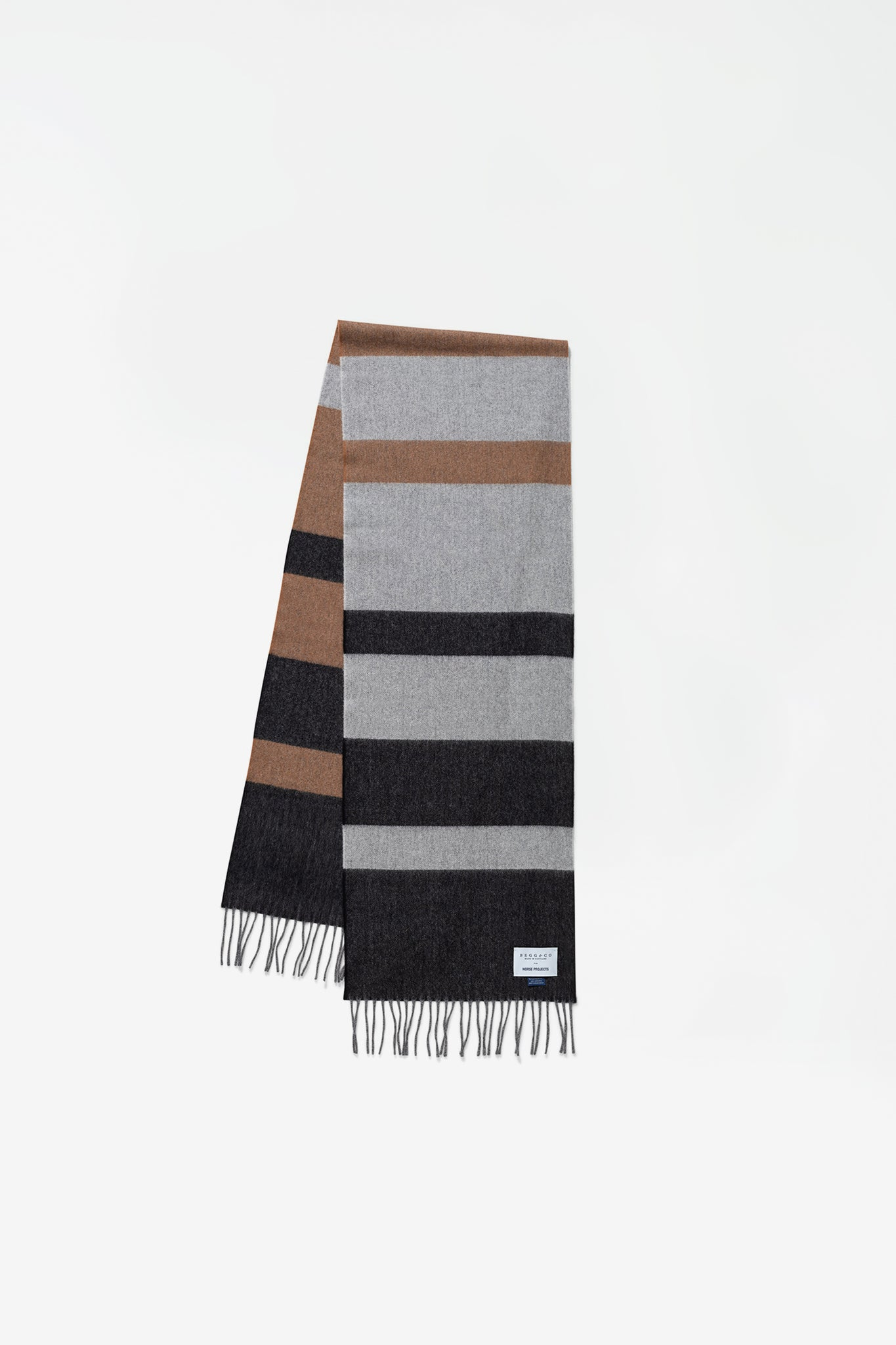 Norse x Begg & Co scarf madder brown