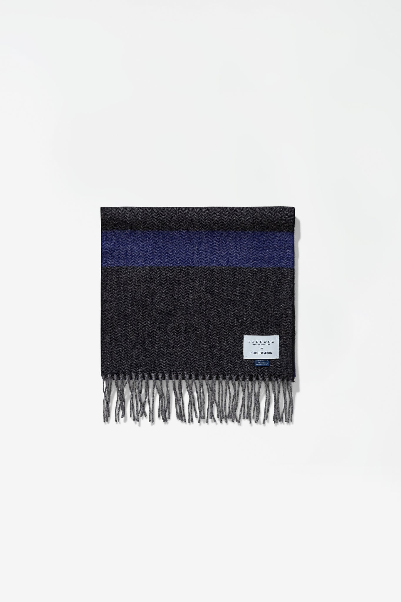 Norse x Begg & Co scarf twilight blue
