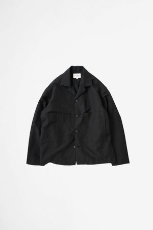 Open collar blouson black