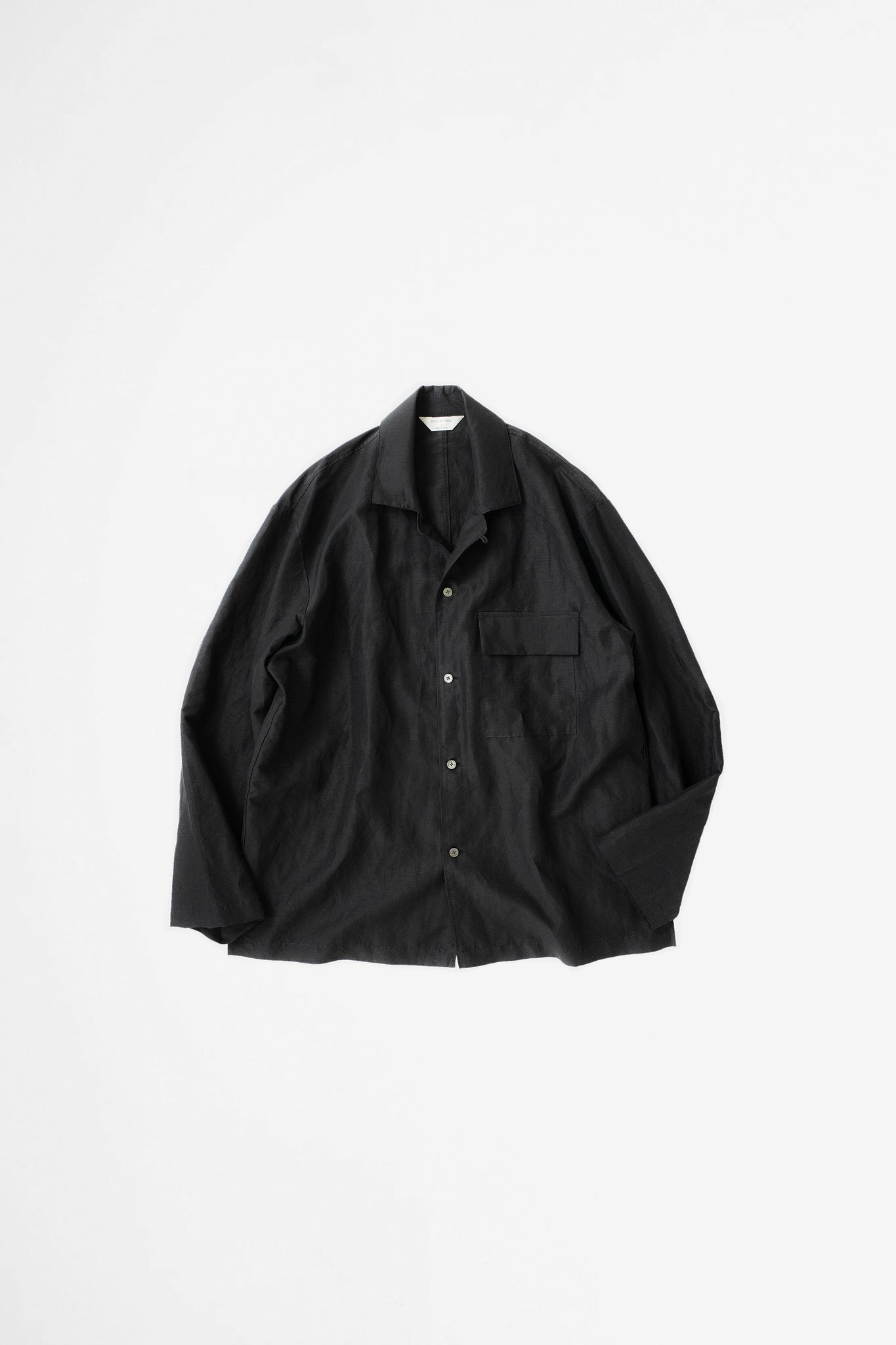 Open collar coverall black