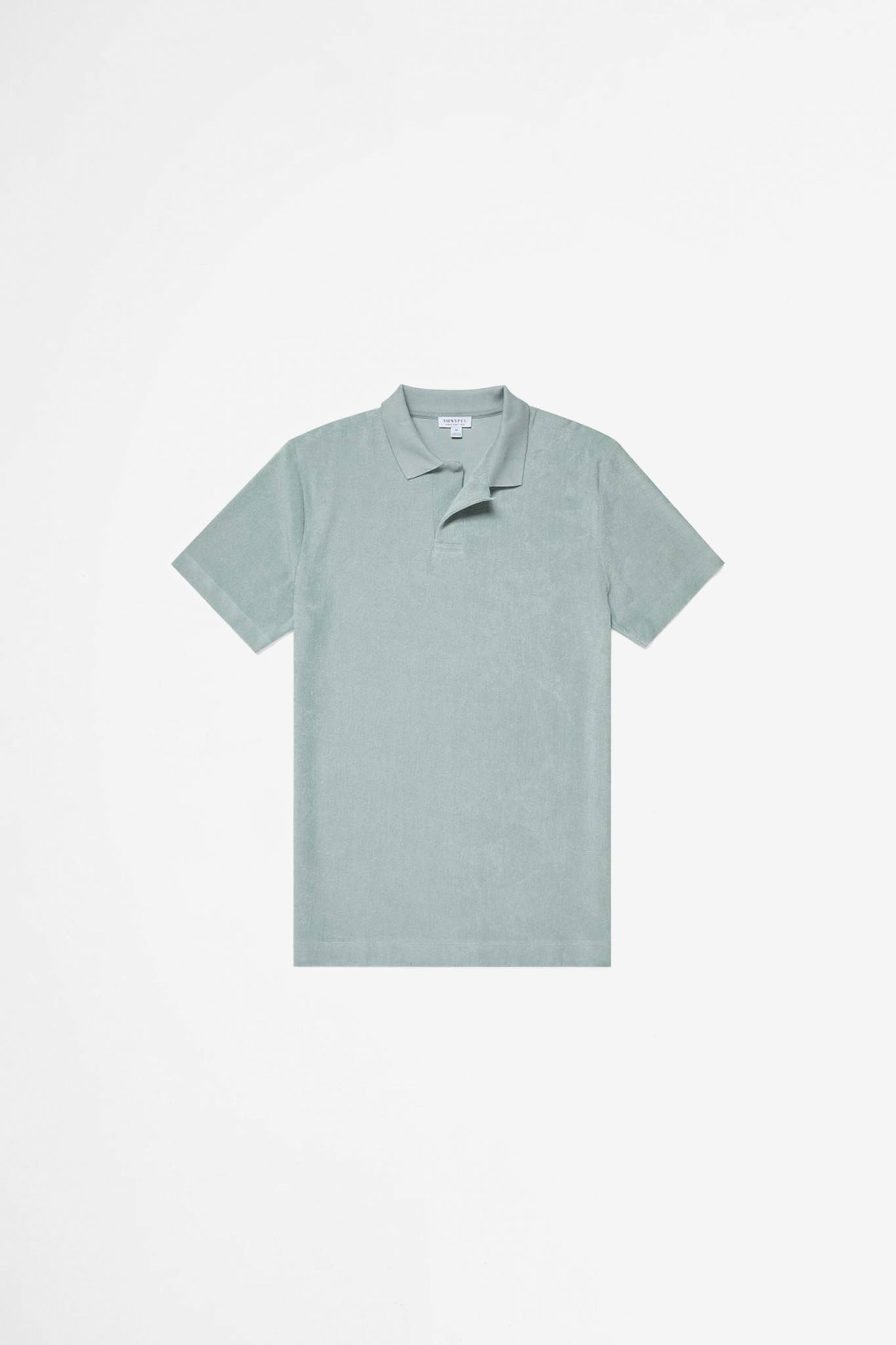Organic Cotton Towelling polo dusky green