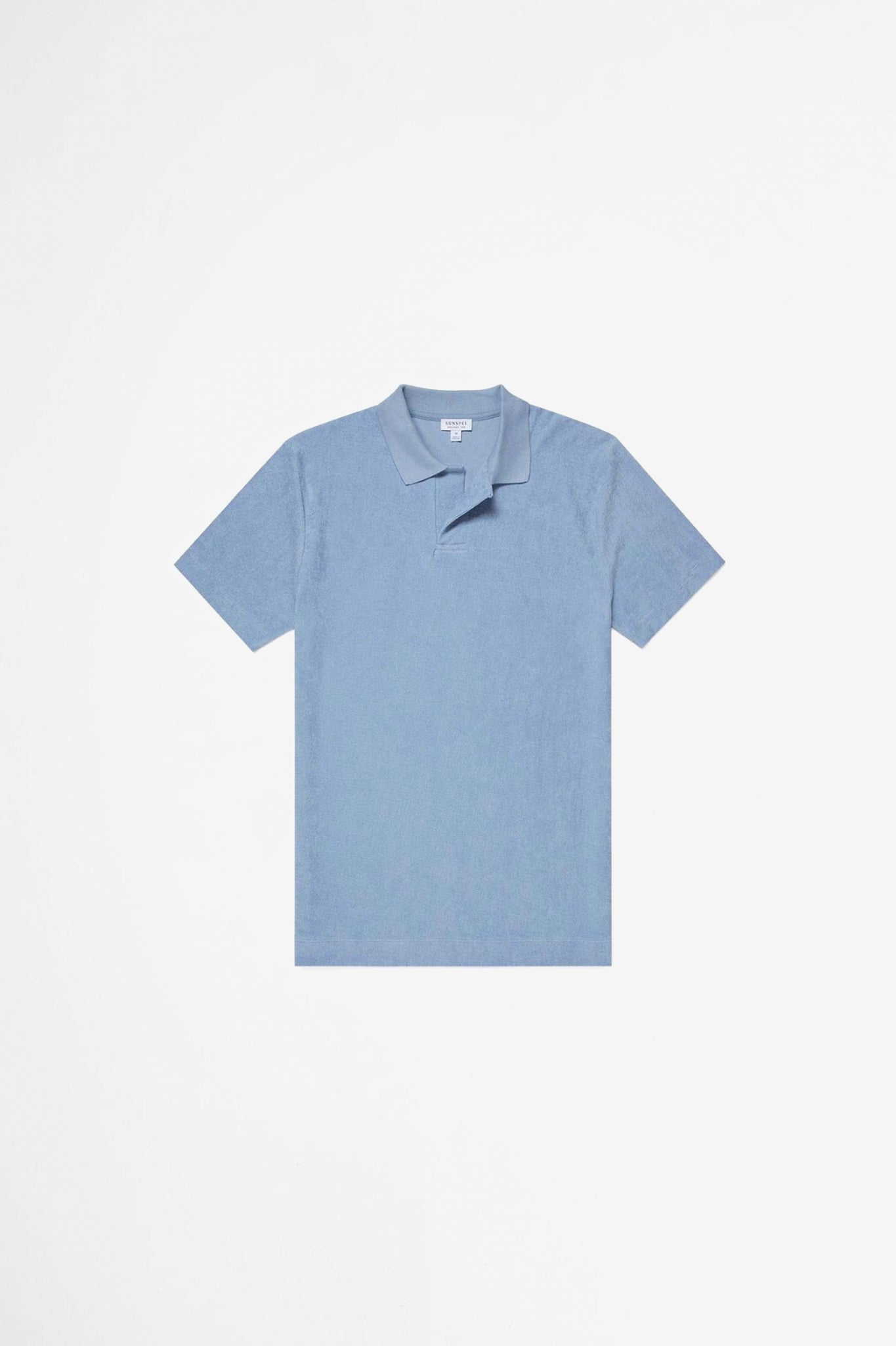 Organic Cotton Towelling polo washed denim