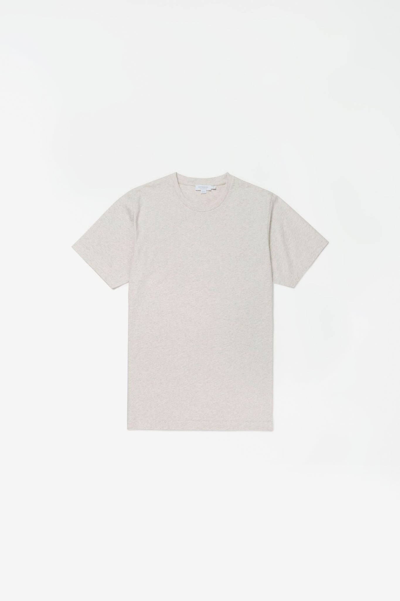 Organic cotton riviera t-shirt archive white melange